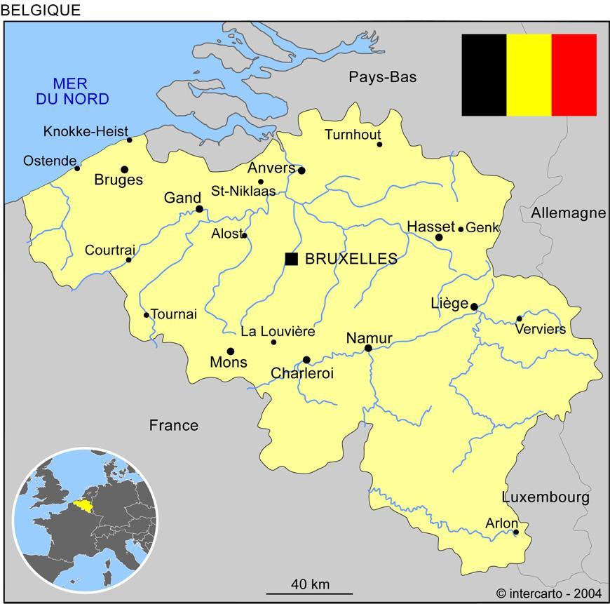 Brussels Belgium map - Brussels Belgium map europe (Western ...