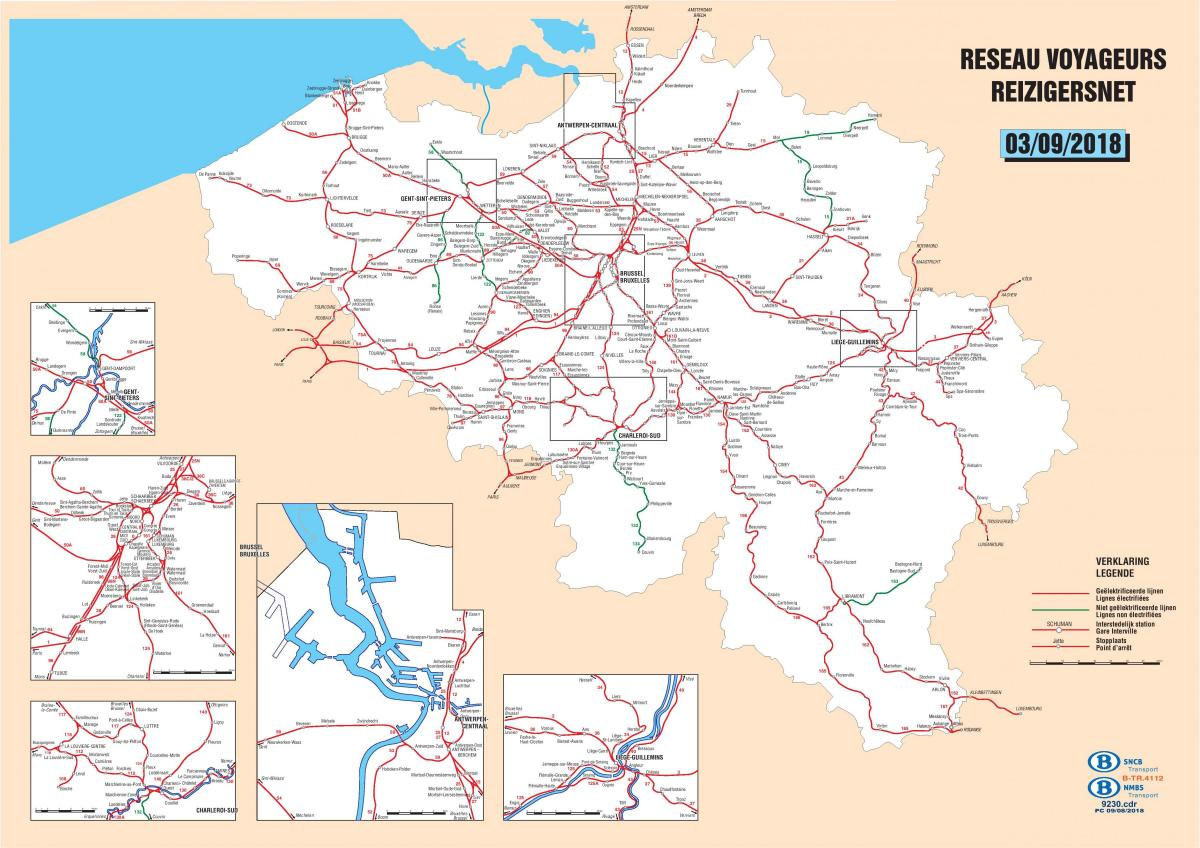Belgium train stations map