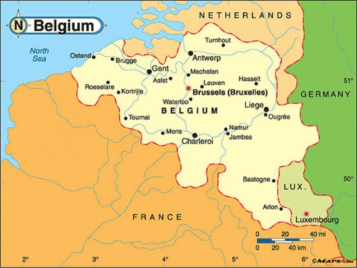 Map of leuven Belgium