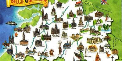 Map of Belgium attractions