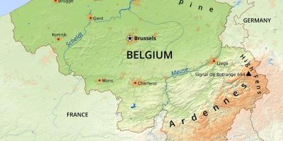 Map of Belgium geography