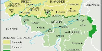 French speaking Belgium map