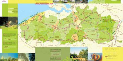 Belgium campsites on a map