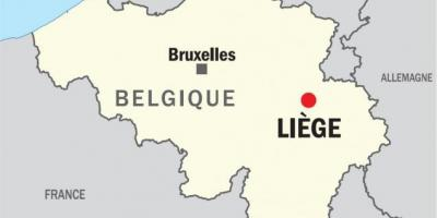 Map of liege Belgium